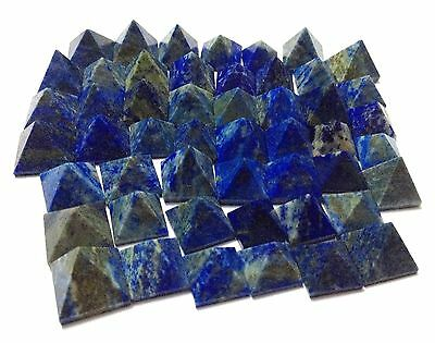 50 Lapis Lazuli Crystal Healing Bagua Loose Pyramids Home Office Gift Feng Shui
