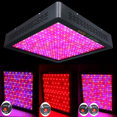 Mars 2 1600 LED Grow Light Lamp Veg Flower Switch Panel Full Spectrum True 749W
