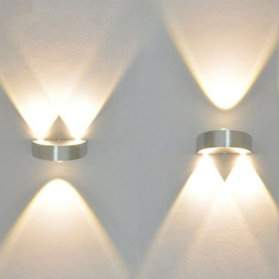 Modern 9W Indoor Wall Lights 3 LED Lighting Up Down Warm White Wall Lamp Sconces