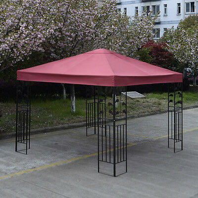 3x3m 1-Tier Gazebo Pavilion Roof Top Cover Tent Canopy Fabric Replacement