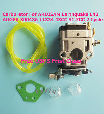NEW Carburetor For ARDISAM Earthquake E43 AUGER 300486 11334 43CC 51.7CC 2 Cycle