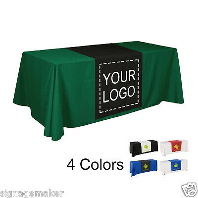 """2pcs 30""""W CUSTOM FULL COLOR TRADE SHOW TABLE RUNNER, Table Cloth not included"""