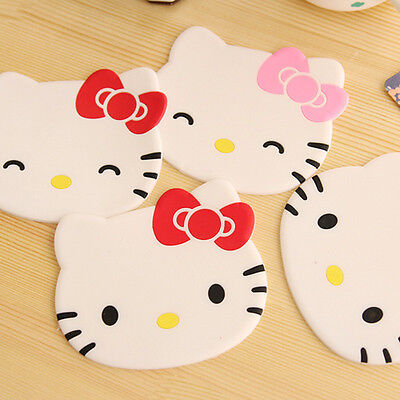 Silicone Hello Kitty Coaster Cup Cushion Holder Drink Placemat Mat Kid Xmas Gift