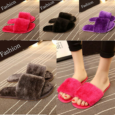 New Women House Home Flat Anti-slip Slippers Indoor Soft Cotton Open Toe Shoes