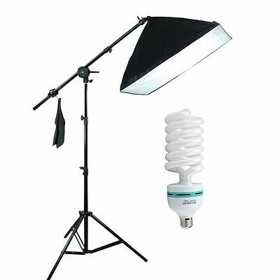 135W Bulb Photo Studio Lamp Camera Light Stand SoftBox Continuous Lighting Kit