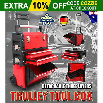 New Trolley Tool Box Chest Drawer Cabinet Castor Roller Toolbox Storage Mechanic