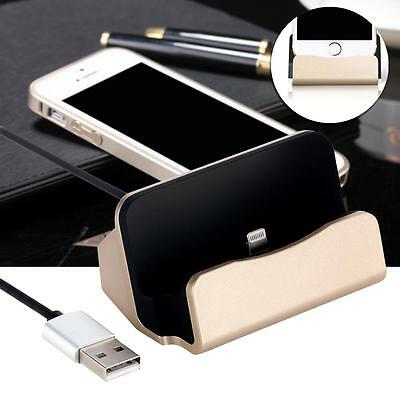 1x Charging Sync Dock Cradle Stand For iPhone 6 plus 6 5s 5c 5 Charging Gold DA