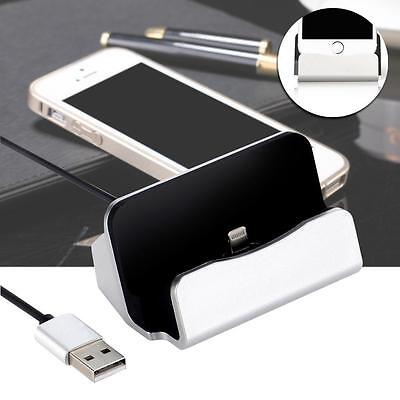Charging Sync Dock Cradle Stand For iPhone 6 plus 6 5s 5c 5 Charging Silver DA