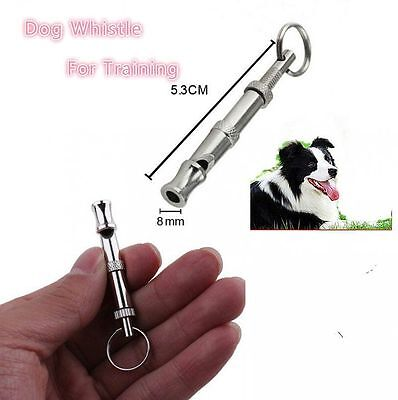 New Pet Dog Training Adjustable Whistle Sound with Keychain for Dog Pet CA