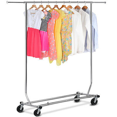 Adjustable Commercial Clothing Single Garment Collapsible Rolling Hanger Dryer