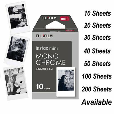 Fujifilm Instax Mini Monochrome Mono Film Black/White for 8 70 90 SP-1