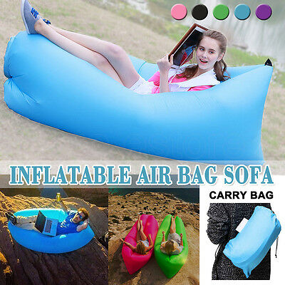 $9 Inflatable Air Bag Sofa Travel Camping Beach Lazy Lounger Sleeping Bed Chair