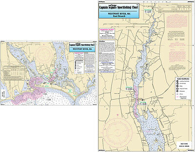 Fishing Map Westport River, MA WPR332-BC N. Atlantic