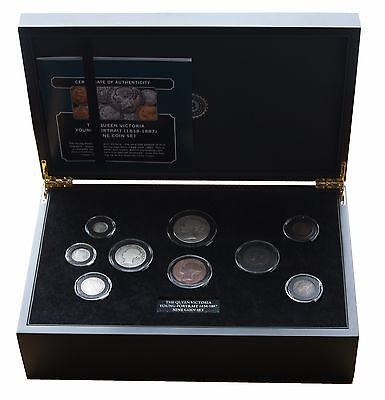 The Queen Victoria 1897 Young Portrait Nine Coin Set