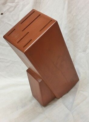 Wooden Kitchen knife block tool Storage organizer 6 slots.