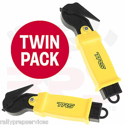 TWIN PACK TRS Harness Seat Belt Web Cutter Emergency Safety Tool - Race / Rally
