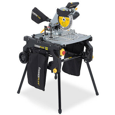Powerplus 230v 254mm Flip Over Compound Mitre Table Bench Saw