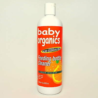 Baby Organics Baby Bottle & Utensil Cleanser Cleaner 500ml Chemical Free