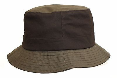 Brand New Men's Olive Green/brown Wax Outdoor Waterproof Bucket Bush Hat Multi 2