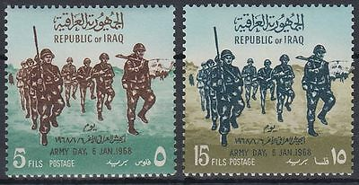 Irak Iraq 1968 ** Mi.518/19 tag der armee Army day Truppen troops