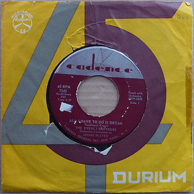 """7"""" The Everly Brothers - All I Have To Do Is Dream - USA 1958 - VG+"""