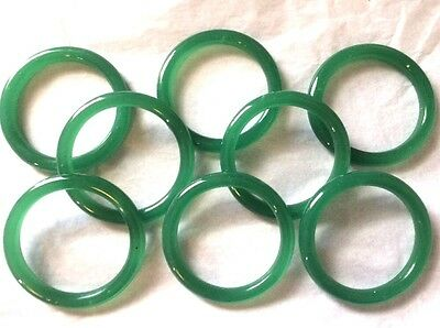 Art Deco Green Glass Bangle Bracelet Set Small