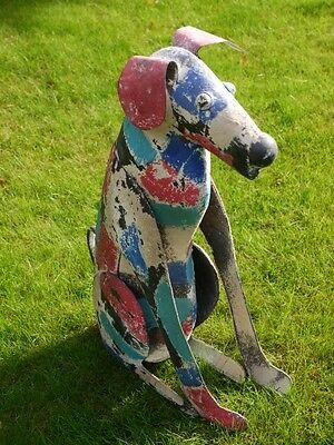 Vintage Metal Dog Outdoor Garden Sculpture Statue Animal Ornament Large 61cm