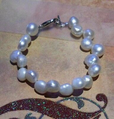 Child Toddler Baby Pearl Bracelet with Lobster Clasp