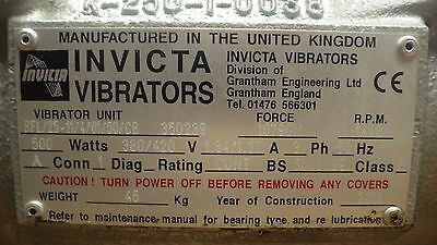 Invicta Vibrators motor SFL25 11/4/01/50CB 380/420v 500watts,NEW UNUSED 2012 Mod