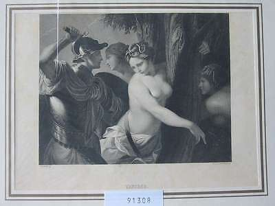 91308-Frauen-Woman-Nude-Nackte-Tancred-Stahlstich-Steel engraving