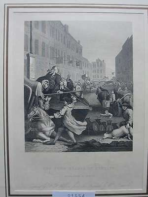 91554-Karikatur-Caricature-Hogarth-Stages of Cruelty-Stahlstich-steel engraving