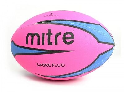 Mitre Sabre Rugby Ball Pink Fan Supporter Gift Size 5