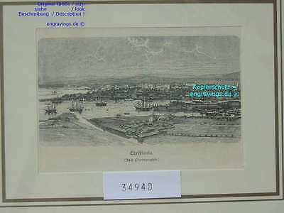 34940-Norwegen-Norway-Norge-Christiania-Oslo-T Holzstich-Wood engraving-1890