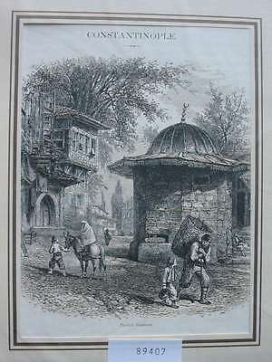 89407-Türkei-Turkey-Türkiye-Istanbul-Constantinople-Fountain-TH-Wood engraving