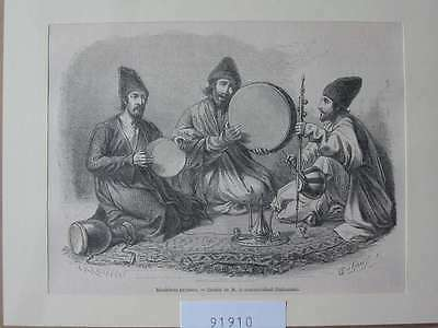 91910-Iran-Iran-Persien-Persia-Musik-Music-T Holzstich-Wood engraving