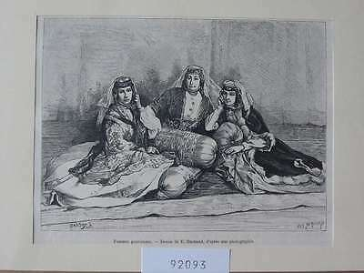 92093-Kaukasus-Caucasus-Femmes gouriennes-T Holzstich-Wood engraving