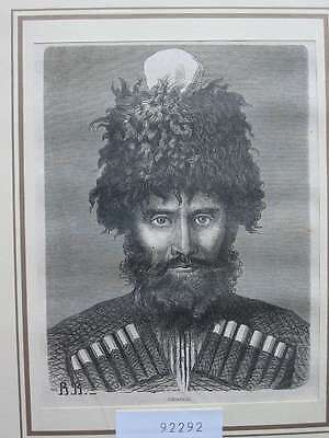 92292-Russland-Russia-Kaukasus-Caucasus-Cabardin-T Holzstich-Wood engraving