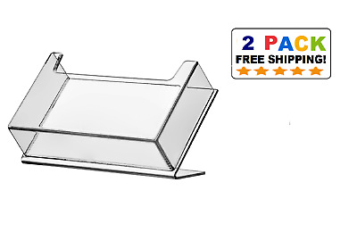 NEW 2-Pack Slanted Acrylic Post Card Holder for 6x4 Postcards USA Made