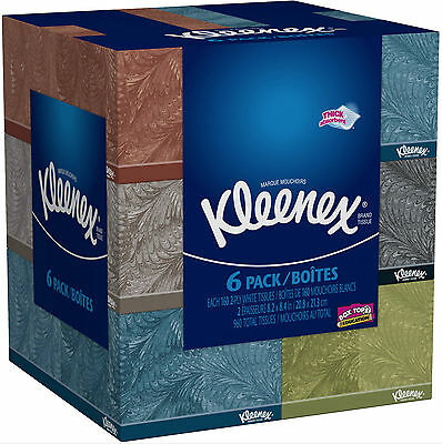 Kleenex Facial Tissues Box Everyday 160 Sheets Pack of 6 Home Office School New