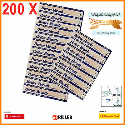 200x Med. Nasal Anti Snore Strips Stop Snoring Help Breathe Right Better Sleep M
