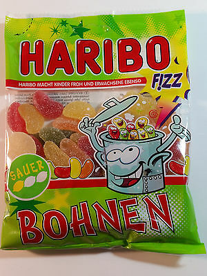 HARIBO SAUER BOHNEN  - CANDY WINE GUMS 7oz - 200g - MADE IN GERMANY -