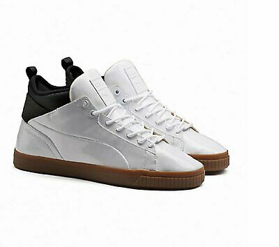 PUMA PLAY NUDE Mens Trainers Lace Up Mid Shoes Patent Leather 361469 ... 9d2305853