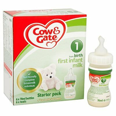 Cow & Gate First Milk Starter Pack Ready To Feed Liquid..12 Bottles With Teats
