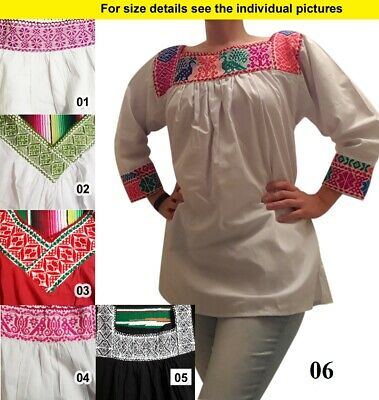 Handmade ethnic embroidered women's blouse from Chiapas Mexico