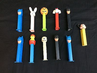 Lot of Pez Dispenser Candy Holders Collectible Toy Variety Mickey no feet