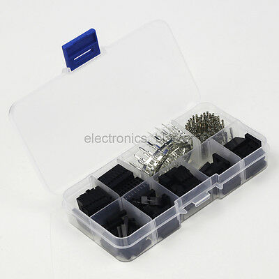 310pcs Dupont Wire Jumper Female Male Crimp Pin Header Housing Connector w/ Box