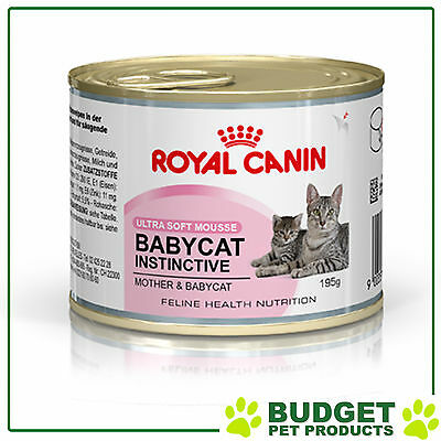 Royal Canin Cans Babycat Instinctive For Kittens And Mother Cats 195gm x 12 Cans