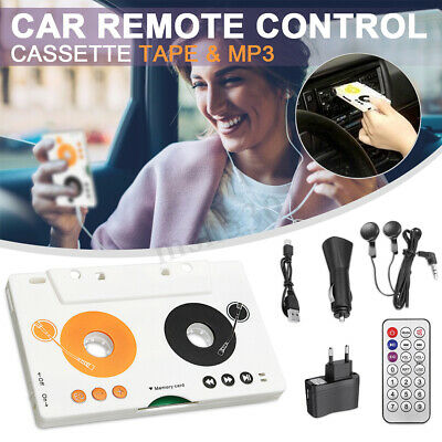 EU Vintage Car Tape Cassette SD MMC MP3 Player Adapter Kit With Remote Control