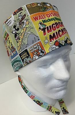 Mickey Mouse Medical Surgical Surgery OR Skull Scrub Hat Chemo Cap
