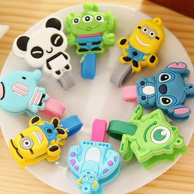 5pcs Cute Cartoon Earphone Headphone Cable Wire Cord Winder Organizer Clip Wrap